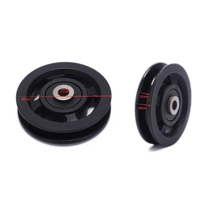 Poulie de roulement 50mm - 90mm résistant à l'usure en Nylon roulement poulie roue câble salle de sport - Modèle: 4 - HSJSZHA11330