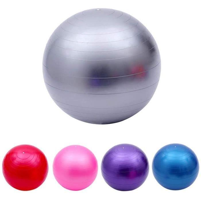 Ballon de Fitness Ballon de Yoga 65 cm PVC Fitness Pilates Balance Ballon de Yoga Fitness Gym Training avec Pompe Anti-Burst An 490