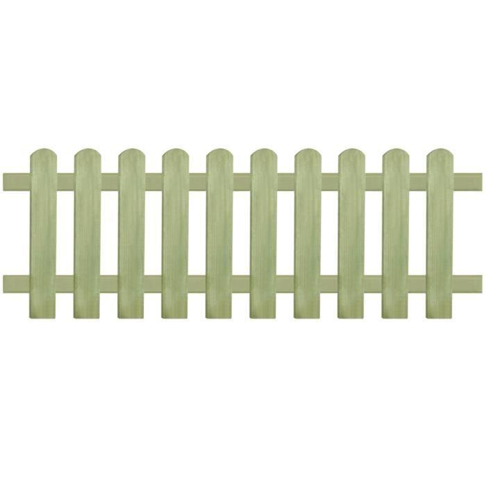♫9520 Clôture de jardin Brise vue Classique Bois de pin imprégné 170 x 60 cm 6 - 9 cm MMCZ®