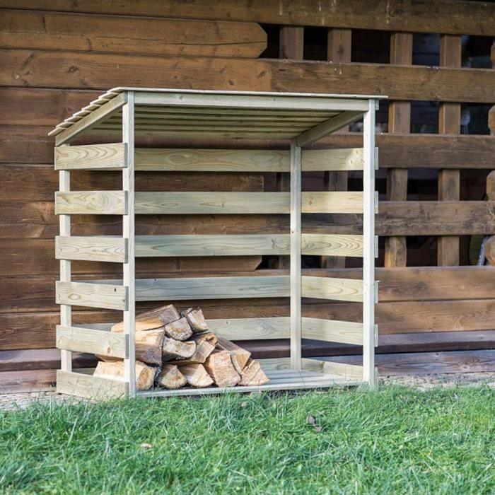 Abri bûches en bois Megève - 1 stère