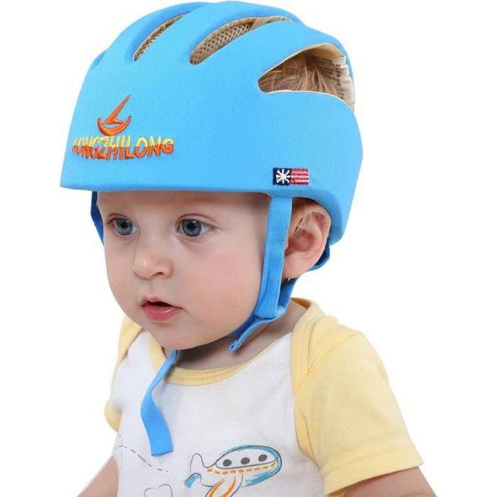 Bébé Sécurité Casque De Protection Anti-choc pour Bébés Enfants Garçons Filles Coton Infantile Protection Chapeaux Enfants - bleu