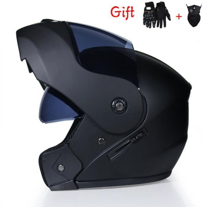 Casque modulable de Marque pour un usage urbain sécurité Casque transformable de moto double lentilles Adulte mixte