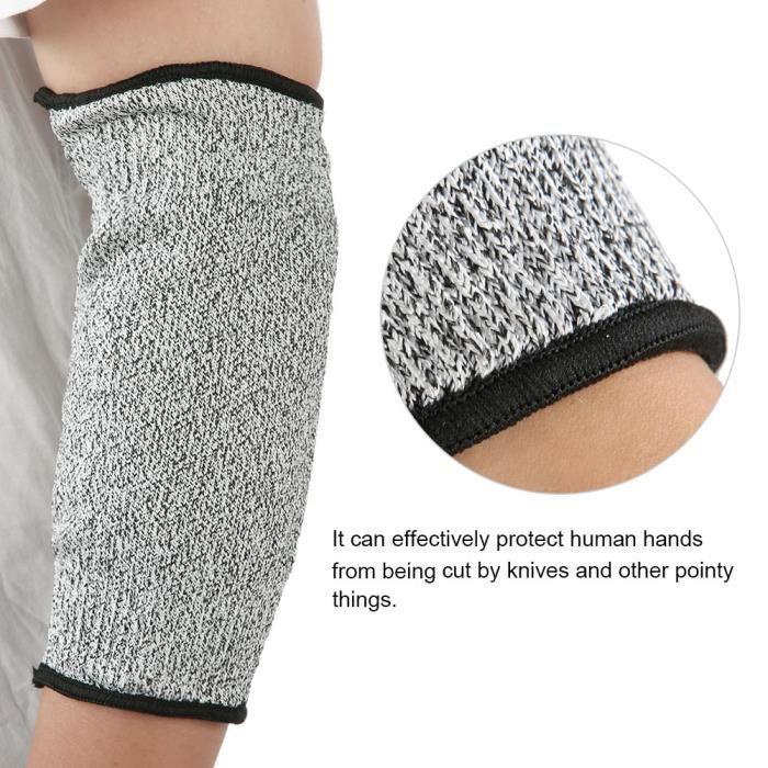 1 paire de bras de sécurité de protection HPPE anti-abrasion anti-coupure à manches longues gants de travail-SHC
