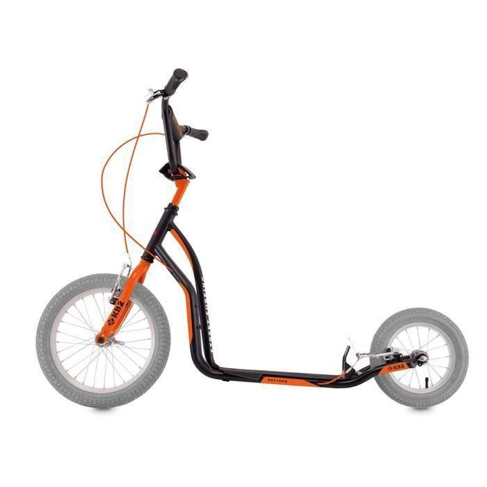 Trottinette grande roue STREET SURFING kb2 python Noir orange Noir Orange