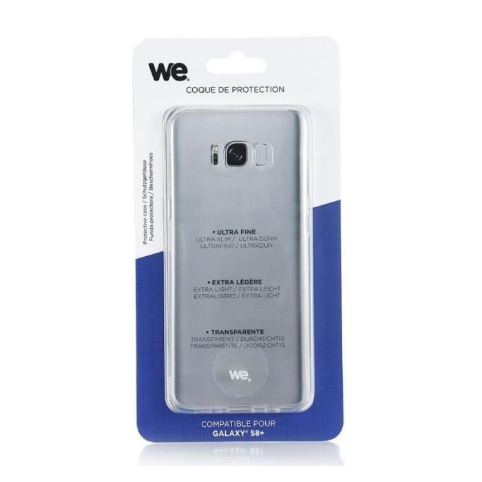 WE Coque de protection pour Samsung Galaxy S8 Plus en TPU semi rigide