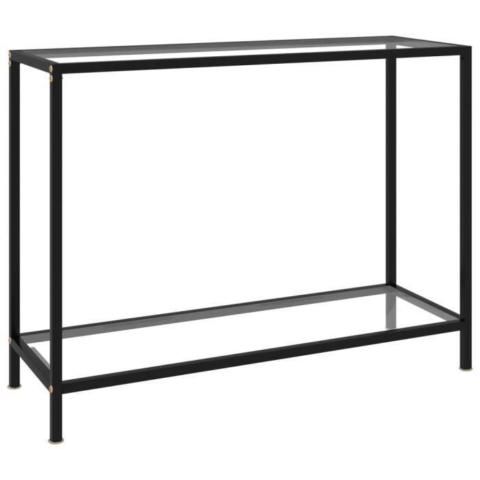 Zhihushop - Table console Transparent 100x35x75 cm Verre trempé