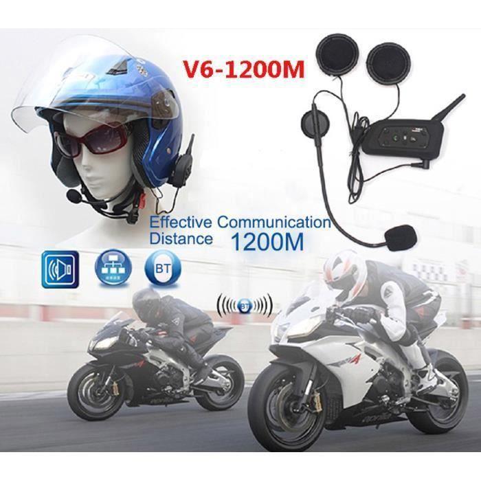 INTERCOM MOTO V6 Moto Intercom Bluetooth Interphone 1200M Motor