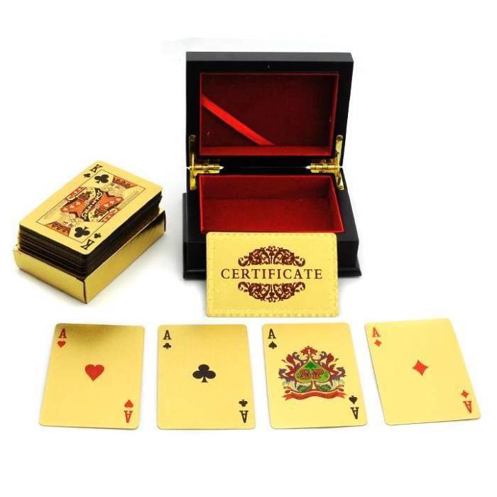 1 Set Golden Playing Cards feuille d/'or poker Haute Qualité Étanche Cartes à Jouer