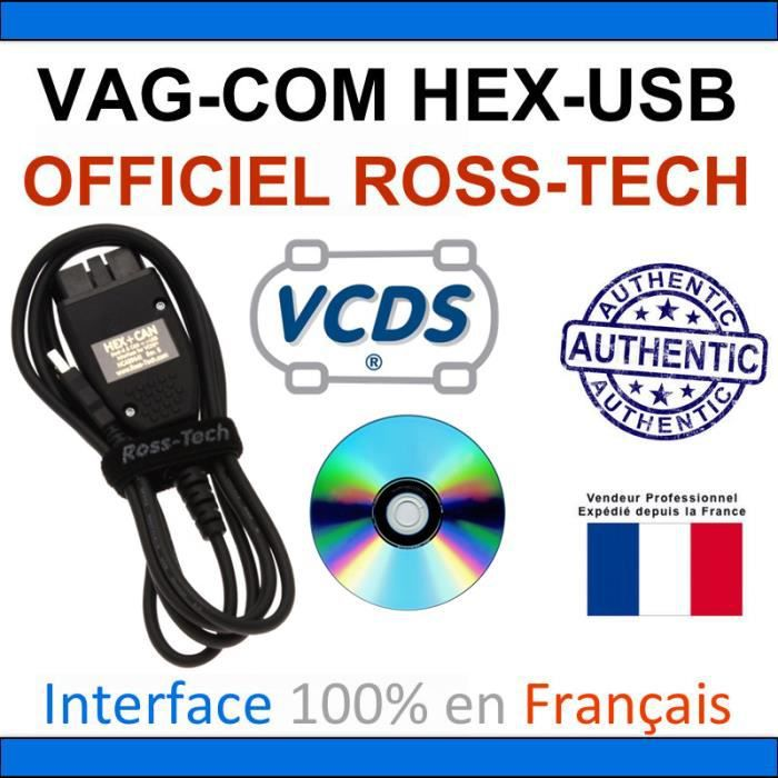 vag com vagcom vcds hex can usb interface pour vw audi. Black Bedroom Furniture Sets. Home Design Ideas