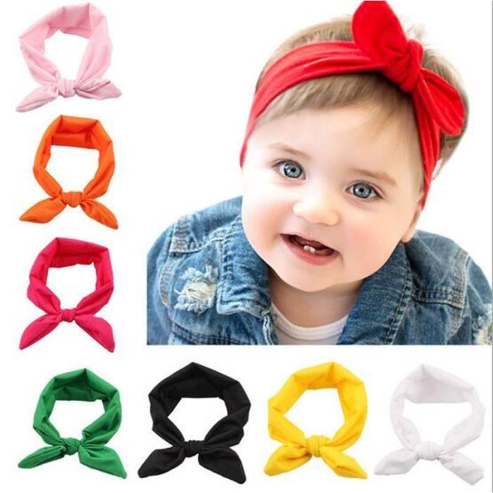 5Pcs// Lot Enfants Filles Pour Bébé Élastique Noeud Croix Bandeau Hair Band Headwear