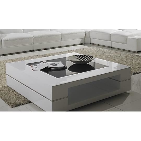table basse moderne blanche 120 cm x 120 cm tam achat. Black Bedroom Furniture Sets. Home Design Ideas