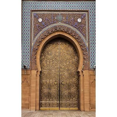 Sticker mural g ant porte orientale 140x220cm r achat for Decoration porte orientale