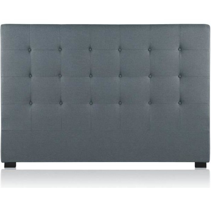 tete de lit 160 gris achat vente tete de lit 160 gris pas cher cdiscount. Black Bedroom Furniture Sets. Home Design Ideas