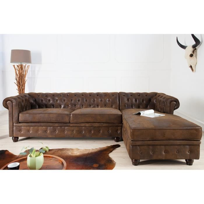 casa padrino chesterfield canap d 39 angle en gris antique. Black Bedroom Furniture Sets. Home Design Ideas