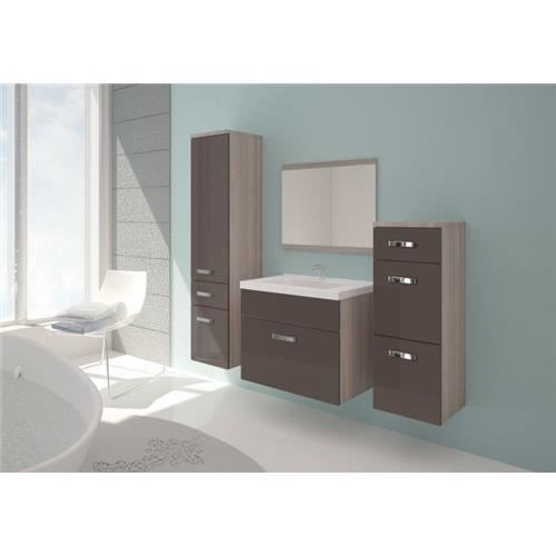 ensemble salle de bain aric truffe et marron achat vente salle de bain complete ensemble. Black Bedroom Furniture Sets. Home Design Ideas