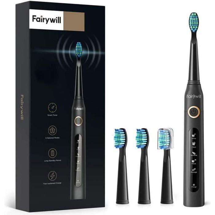 BROSSE A DENTS ÉLEC Brosse à dents électrique noir Fairywill FW507 Cry