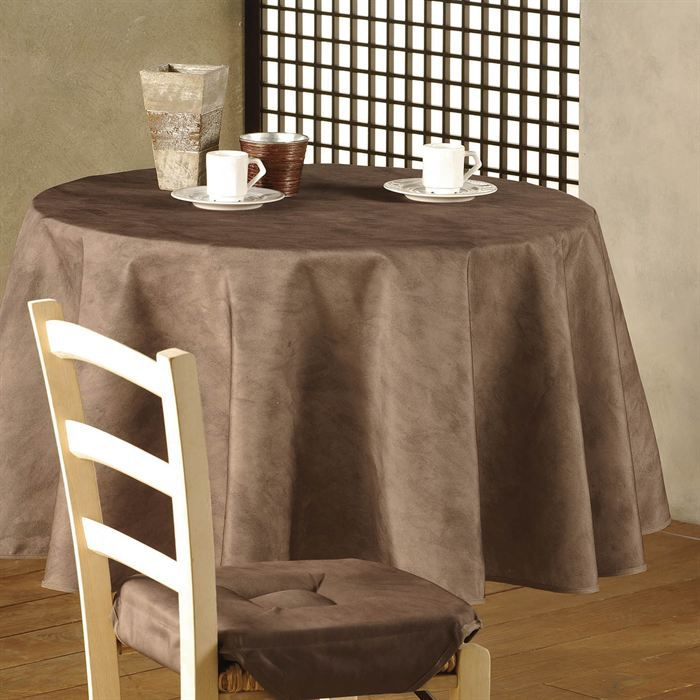 nappe ronde 180 cm beton cire chamois achat vente. Black Bedroom Furniture Sets. Home Design Ideas