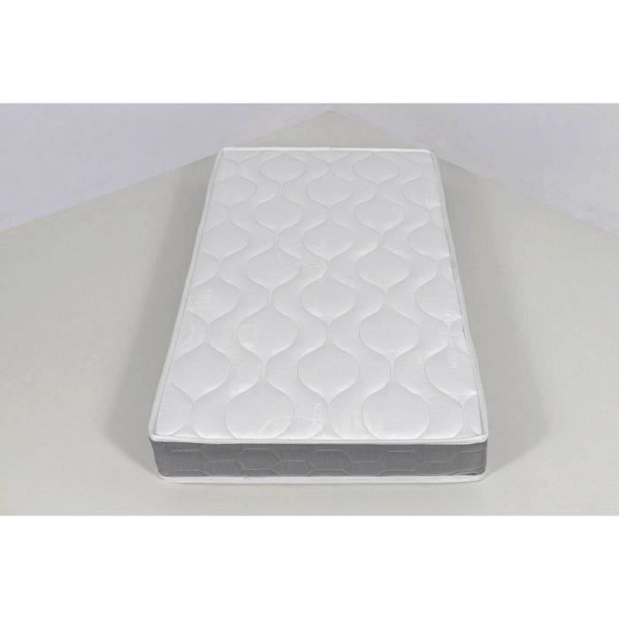 matelas b b babychou 70 x 140 mousse 21 kg blanc achat. Black Bedroom Furniture Sets. Home Design Ideas