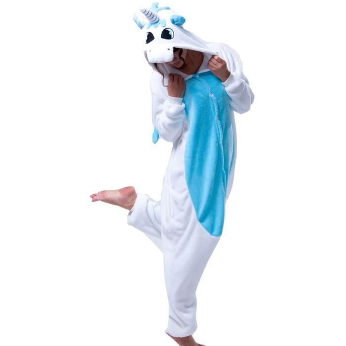 hot flanelle licorne pyjama femme homme onesies cosplay hiver animaux pour les adultes bande. Black Bedroom Furniture Sets. Home Design Ideas
