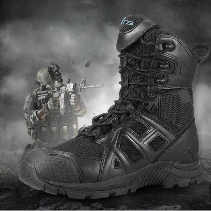 hommes l'armée Bottes Pour extérieures des bottes Cuir de 0O8nvmNw