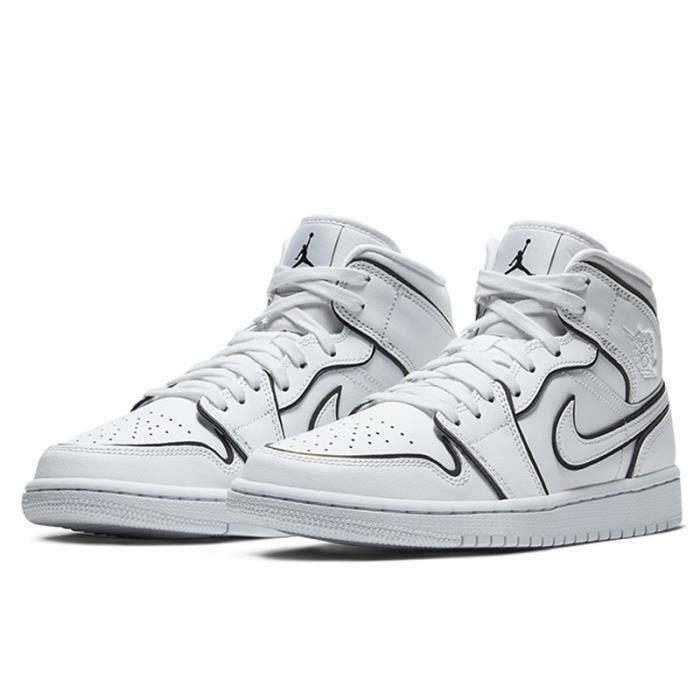 Nike Air Jordan 1 Mid SE WMNS Femme Chaussures de Basket Air ...