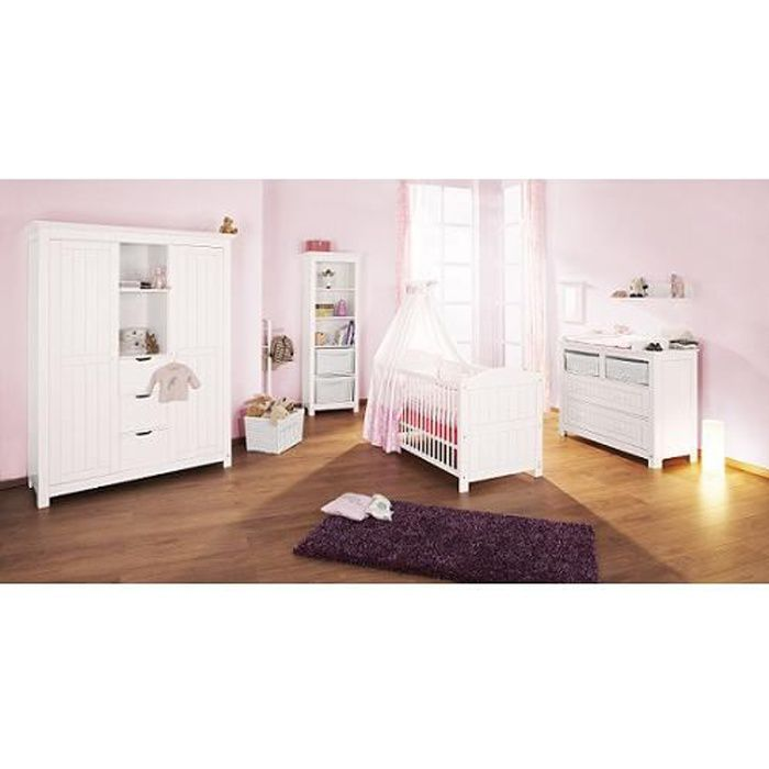 chambre b b nina avec commode large achat vente. Black Bedroom Furniture Sets. Home Design Ideas