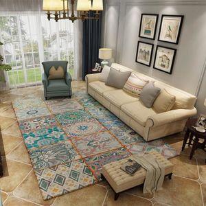 TAPIS Tapis salon 120*160cm tapis ethnique grand tapis g