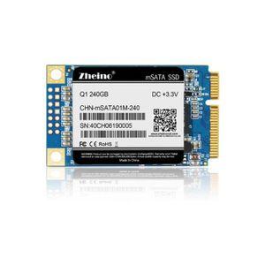 DISQUE DUR SSD Disque SSD interne Zheino 240Go msata SSD Q1 Disqu