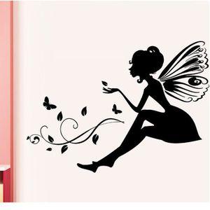 STICKERS Sticker mural Nouvelle fleur fée bricolage petit a