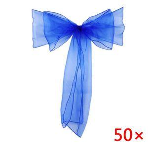 TULLE - NOEUD - RUBAN 50 Pcs sheer organza chaise sash arc pour la couve