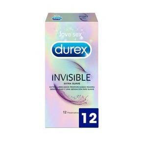 PRÉSERVATIF Durex 40465 Préservatifs Invisible Extra Lubrifié