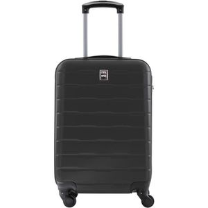 VALISE - BAGAGE CITY BAG Valise Cabine Ultralight ABS 4 Roues Gris