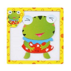 PUZZLE Funny Frog Jigsaw Puzzle Jouets éducatifs Dessin P