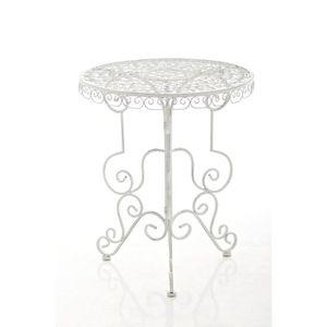 TABLE DE JARDIN  CLP Table de jardin ronde en fer forgé MINORE, fai