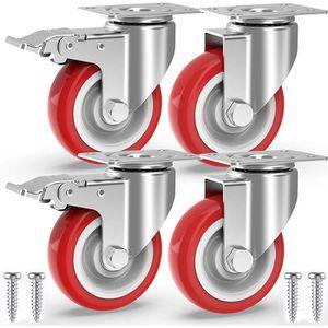 ROUE - ROULETTE Set de 4 x Roulettes pour Meubles SWIFT transparen