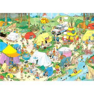PUZZLE Puzzle 1000 pièces : Jan Van Haasteren : Camping e