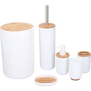 PORTE ACCESSOIRE Set de 6 accessoires de salle de bain - Plastique