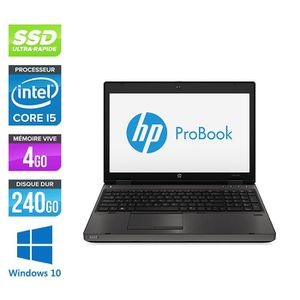 ORDINATEUR PORTABLE Pc portable HP 6570B - i5 - 4Go - 240Go SSD - 15.6