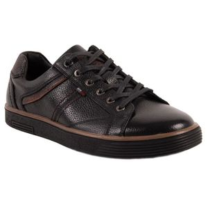 BASKET Baskets en cuir homme noir confort semelle noir-40