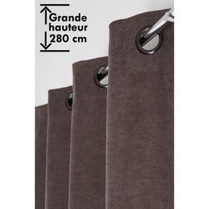 RIDEAU Rideau 140 x 280 cm àˆ Oeillets Grande Hauteur Vel