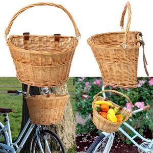 """Oxford Cycle//Vélo Osier Panier D Forme │ Haute Qualité Tissé │ taille 12/"""" à 20/"""""""
