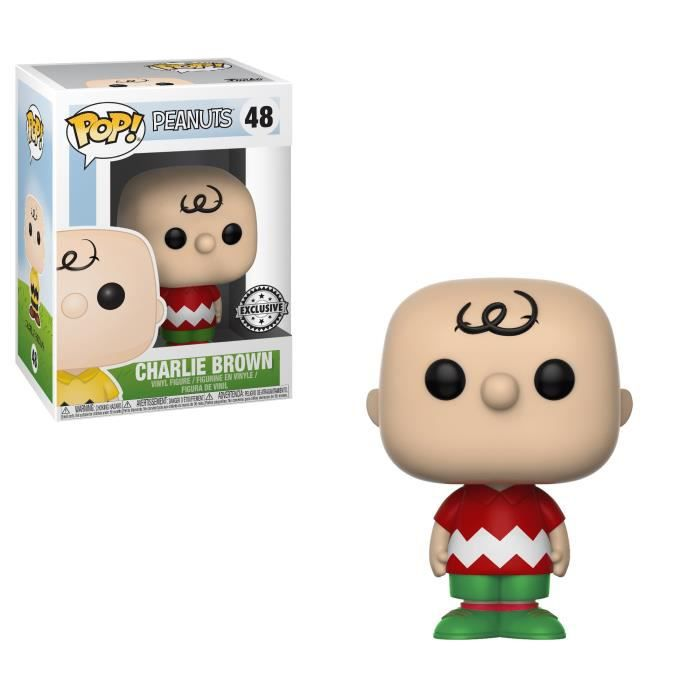 Figurine Funko Pop! Peanuts Worldwide: Charlie Brown tenue de Noël - Exclusive