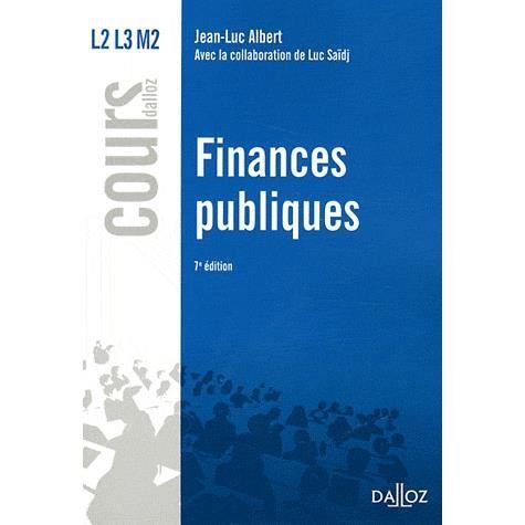 Finances Publiques Achat Vente Livre Dalloz Sirey Parution 26 10 2011 Pas Cher Cdiscount