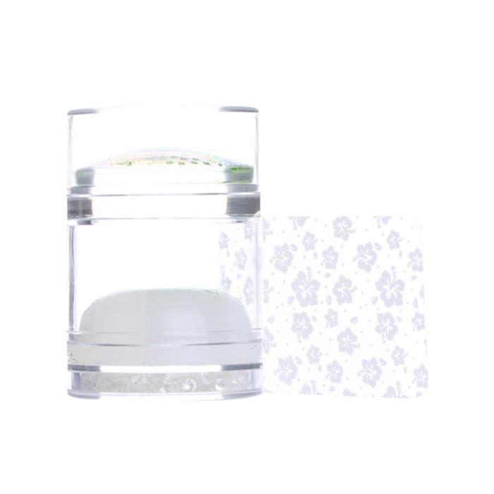 1 pièces Nail Art joint doux Double tête tampon grattoir beauté décor Stamper manucure outil cadeau avec diamant