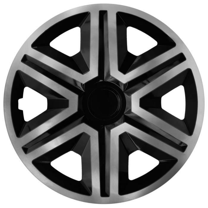 Enjoliveurs de roues 16 - universels noir graphite NRM ACTION