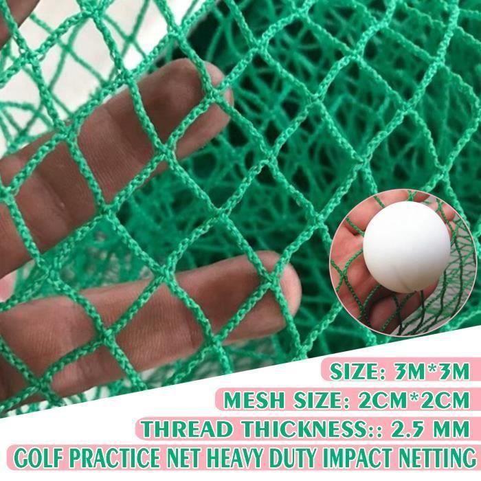 Filet Golf Entraînement 3m X 3m Maille 2cm X 2cm 2.5mm Diamètre Ligne SA58144