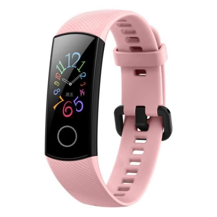 Montre Connectée Rose HUAWEI Honour Band 5 Bracelet Connectee Étanche Nager Smart Podomètre Tracker Sport [Edition Standard]