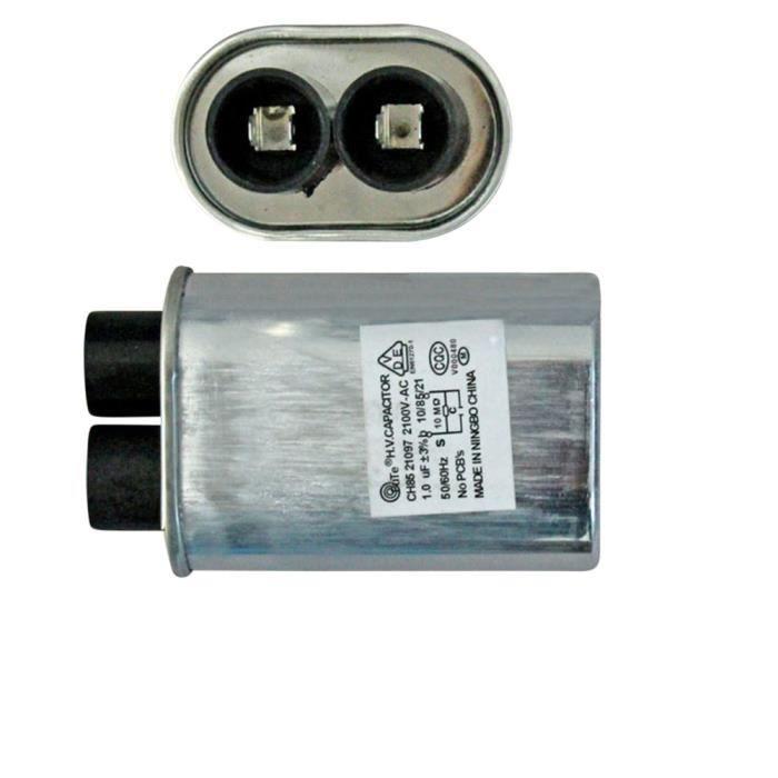 Remplacement à haute tension de condensateur de haute tension de 0.92uF 2100V pour le four à micro-ondes 70 × 52 × 33 mm