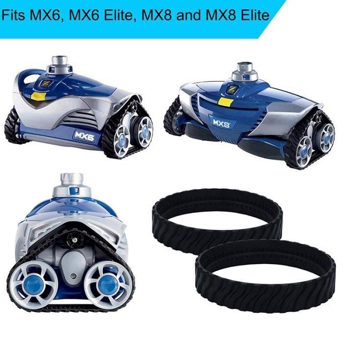 2 chenilles adaptables pour Zodiac MX6 MX8 MX9, pneus de Robot Nettoyeur Piscine Baracuda R0526100
