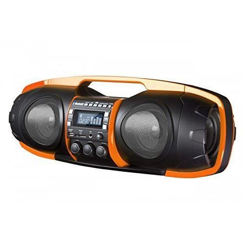 sdigital Go de 6000 Nuke Boombox Bluetooth/Ghetto Blaster (Radio FM, MP3, USB, SD, Power Bank, AUX-IN..)rechargeable orange